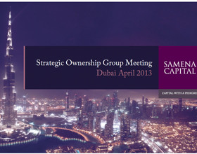 10th Strategic Ownership Group Meeting – Dubai